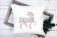 Unicorn doodle Line Art Machine embroidery designs